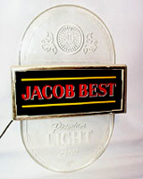 Jacob Best Light Beer Sign