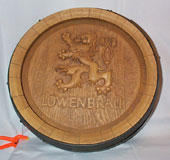 Lowenbrau Half Barrel Sign