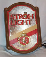 Stroh Light Beer Lighted Sign