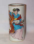 Oriental Vase, Lady with White Cat